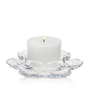 Godinger Shannon Crystal Lotus Pillar Candle Hldr